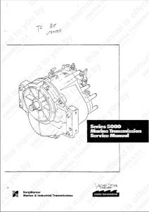 Velvet Drive 5000 Marine Transmission Service Manual