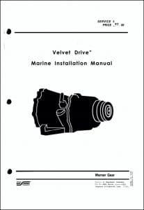 Velvet Drive Marine Installation Manual