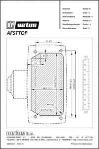 Vetus AFSTTOP engine control drill template Drawing