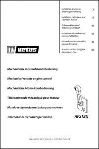 Vetus AFSTZIJ Controls Installation Instructions & Operation Manual