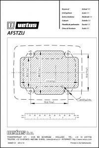 Vetus AFSTZIJ engine control drill template Drawing