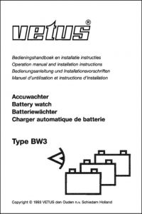 Vetus BW3 Battery Watch Operation Manual and Installation Instructions