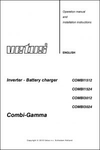 Vetus Battery Charger & Inverter Operation Manual and Installation Instructions