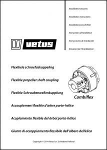 Vetus Combiflex flexible shaft Coupling Installation Instructions