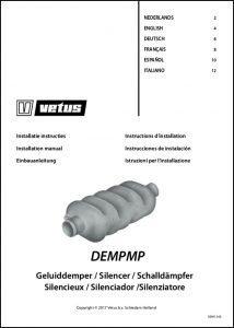 Vetus DEMPMP Exhaust Silencer Installation Instructions