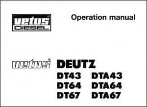 Vetus Deutz DT43 diesel engine Operation Manual