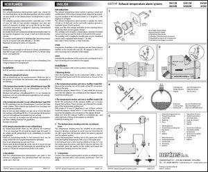 Vetus Exhaust Temp Alarm XHI12B Installation Instructions