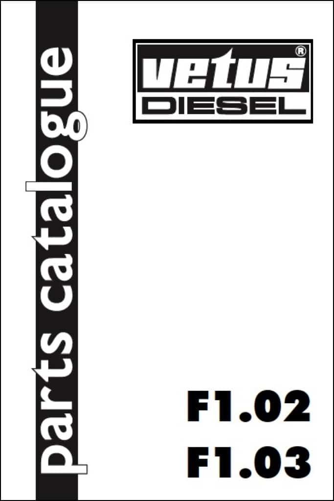 vetus f1 02diesel engine parts catalogue 1995