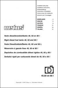 Vetus FTANK40A 40L Installation Instructions