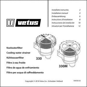 Vetus FTR330 raw water Strainer Installation & Maintenance Guide