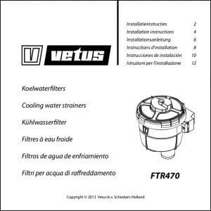 Vetus FTR470 raw water Strainer Installation & Maintenance Guide