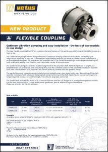 Vetus Combiflex flexible shaft Coupling Brochure