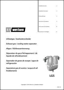 Vetus LGS Exhaust Water Separator Installation Instructions
