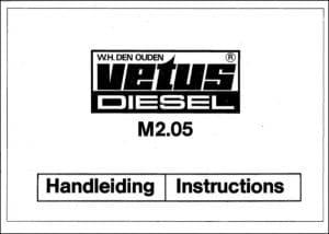 Vetus M2.05 marine diesel engine Owners Manual 1985