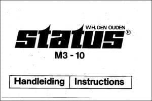 Vetus M3-10 Diesel Engine Instructions Manual