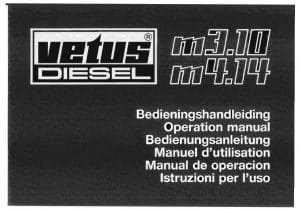 Vetus M3.10 Diesel Engine Operation Manual