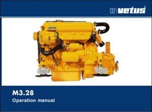 Vetus M3.28 marine diesel engine Operation Manual