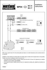 Vetus M4.15 marine diesel engine Installation Instructions