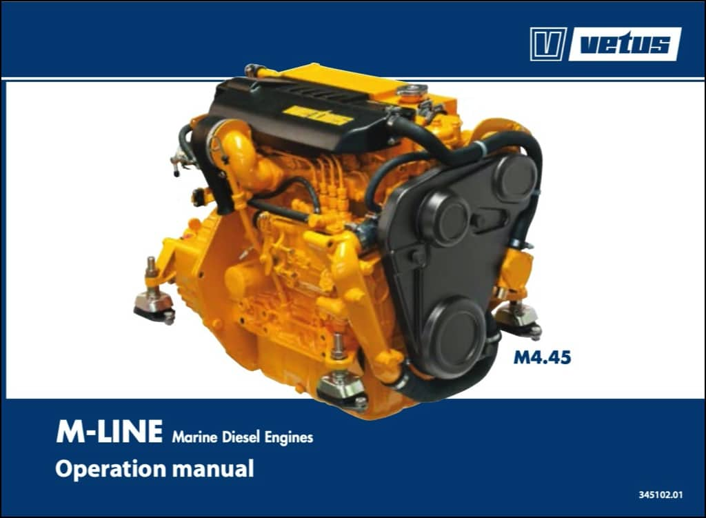 Vetus M4.45 marine diesel engine Operation Manual
