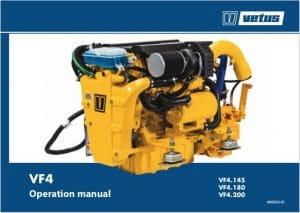 Vetus MF4 marine diesel engine Operation Manual