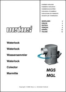 Vetus MGS Exhaust Waterlock Installation Instructions