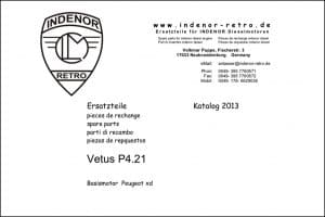 Vetus P4.21 Diesel Engine Parts 2013