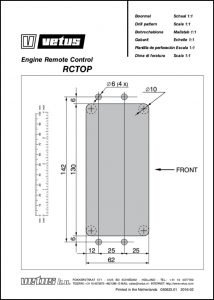 Vetus RCTOP engine control drill pattern Drawing