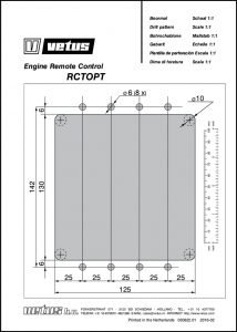 Vetus RCTOPT engine control drill pattern Drawing