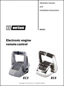 Vetus Engine Remote Control EC3 Operating Manual