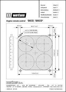Vetus SICO remote control drill pattern Drawing