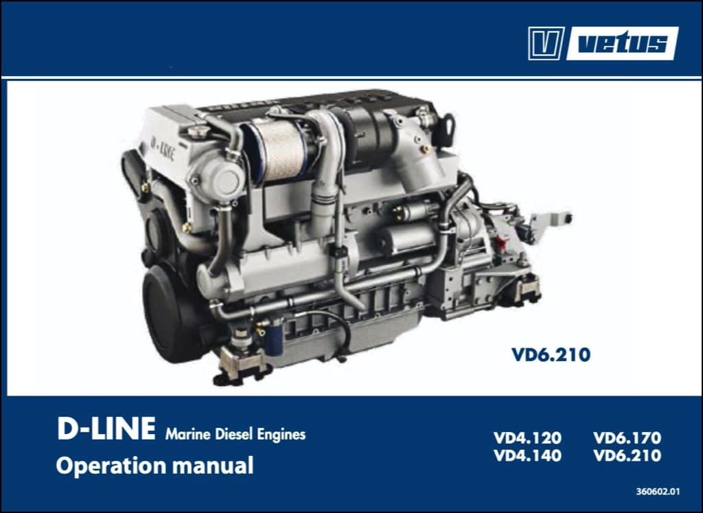 Vetus VD 4.120 marine diesel engine Operation Manual