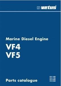 Vetus VF4 Marine Diesel Engine Parts Catalogue