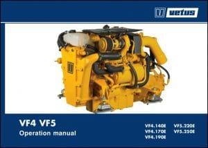 Vetus VF4.140E marine diesel engine Operation Manual