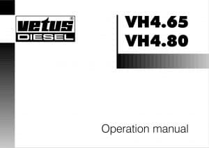 Vetus VH 4.65 Diesel Engine Operation Manual
