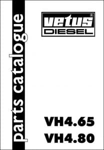 Vetus VH 4.65 Diesel Engine Parts Catalogue 2002
