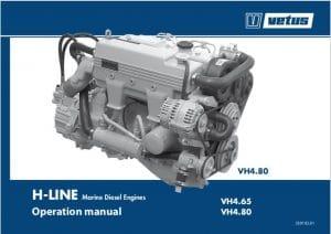Vetus VH4.65 marine diesel engine Operation Manual