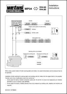 Vetus VH4.65 marine diesel engine Wiring Installation