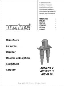 Vetus Vented Loop Airvent V Instructions