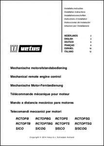 Vetus remote engine control RCTOPB Installation Instructions