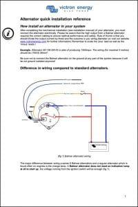 Balmar Alternator Wiring Installation Guide