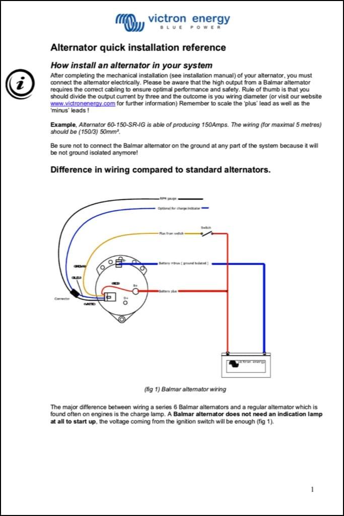 Balmar Alternator Wiring Installation Guide - MARINE SEL BASICS on simple alternator diagram, balmar external voltage regulators, balmar 6 series diagram, alternator connections diagram, 2013 ford alternator schematic diagram, two battery wiring diagram, internal voltage regulated alternator diagram, car alternator diagram, balmar marine alternator, saturn delco 21023480 radio wiring diagram, ford tractor electrical wiring diagram, alternator voltage regulator diagram, to install an alternator diagram, 4 wire chevy alternator internal diagram,