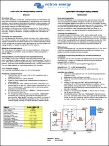 Victron Energy Cyrix-i 12:24-100 Battery Combiner Instructions