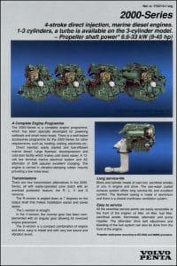 Volvo 2000 Series marine diesel engines Product Guide 1990
