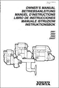 Volvo 2001 etc marine diesel engines Owner's Manual