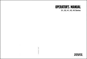 Volvo 31 Series diesel engine Operators Manual