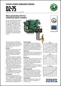 Volvo D2-75 Marine Diesel Engine Technical Sheet 2008