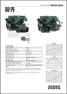 Volvo D2 Marine Diesel Engine Technical Sheet
