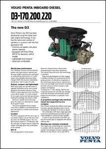 Volvo D3-170 diesel engine Brochure