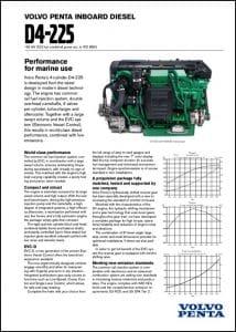 Volvo D4-225 marine diesel Technical Datasheet