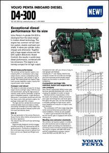 Volvo D4-300 marine diesel engine Technical Datasheet